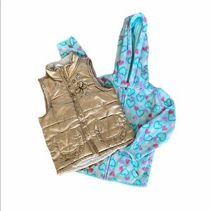 Girls Butterfly Vest & Full ZIP Fleece 5T